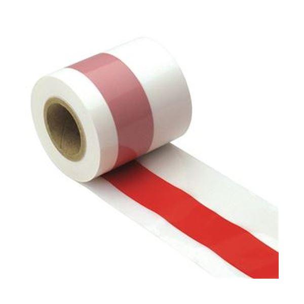 (まとめ)ササガワ 紅白テープ 50m巻40-3081 1巻【×10セット】