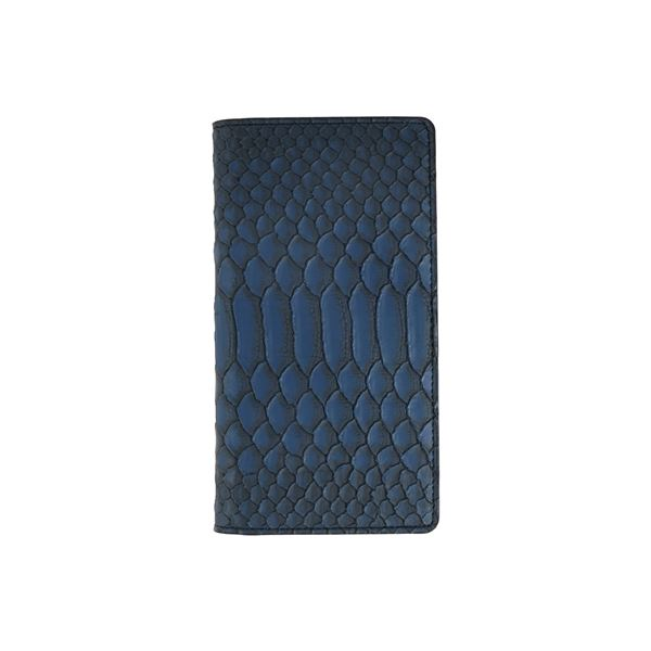 GAZE 多機種対応スライド式 手帳型ケース Matt Python Diary Mサイズ ブルー 青