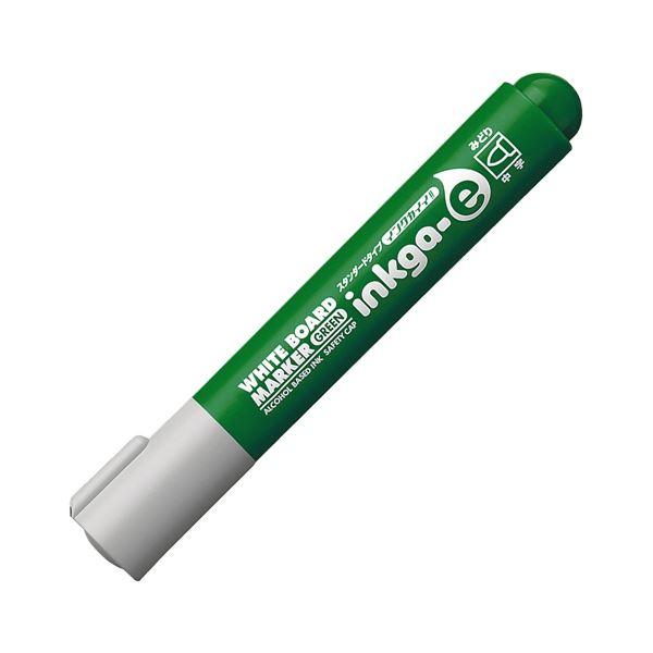 (まとめ) コクヨ ホワイトボード用マーカーペン<インクガイイ スタンダードタイプ> 中字丸芯 緑 PM-BN102G 1本 【×100セット】 白