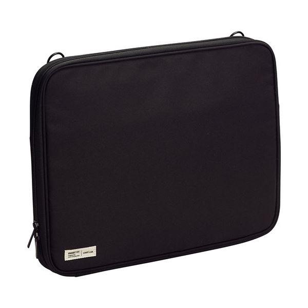 (まとめ) リヒトラブ SMART FITクラッチバッグ A4 ブラック A-7587-24 1個 【×5セット】 黒