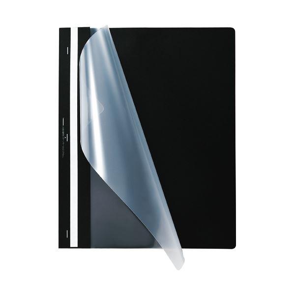 (まとめ) TANOSEE プレゼンテーションファイル スタンダード A4タテ 50枚収容 ブラック 1パック(5冊) 【×30セット】 黒