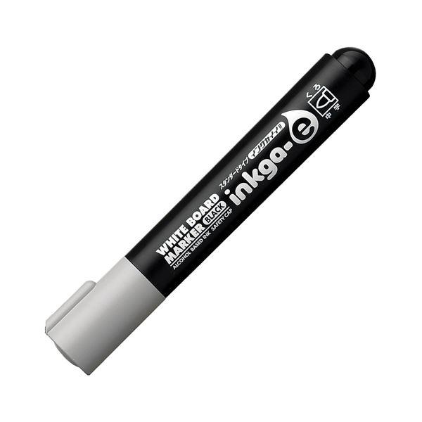 (まとめ) コクヨ ホワイトボード用マーカーペン<インクガイイ スタンダードタイプ> 中字丸芯 黒 PM-BN102D 1本 【×100セット】 白