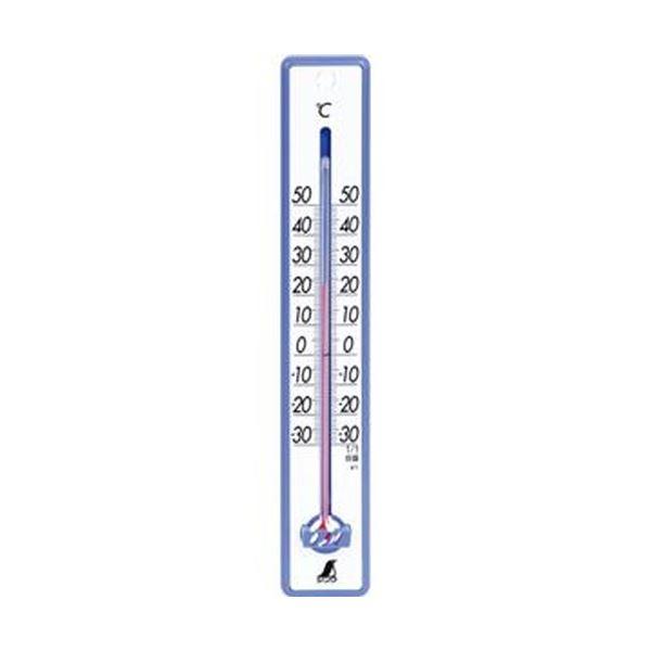 (まとめ)シンワ 寒暖計 25cm ブルー48356 1個【×20セット】 青