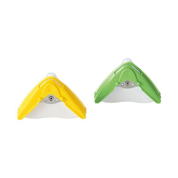 (まとめ)角利産業 コーナーカッターL SCC-10L グリーン【×30セット】 緑