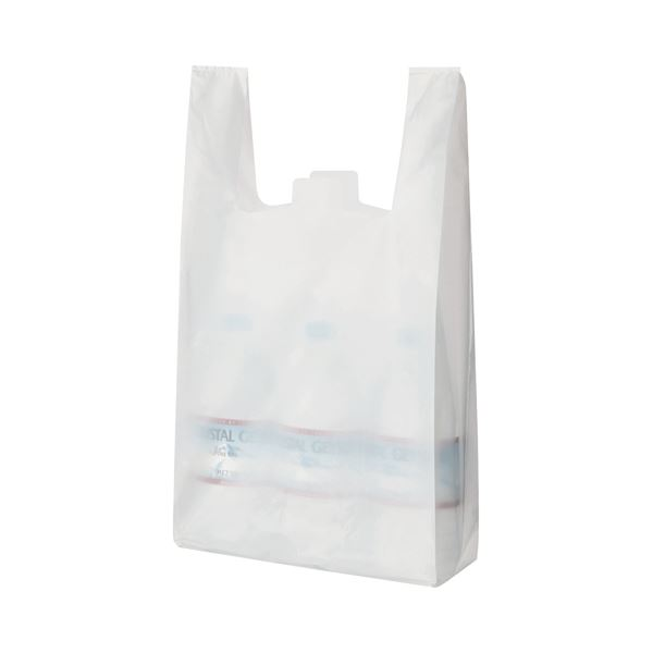 (まとめ) TANOSEE 乳白レジ袋 35号 ヨコ265×タテ540×マチ幅130mm 1パック(100枚) 【×30セット】