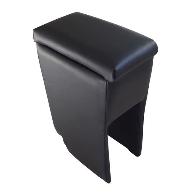 アームレスト 軽自動車 ハイゼットトラックジャンボ S201P/S211P 後期型 ブラック 黒 レザー風 日本製 ダイハツ コンソールボックス 収納 肘掛け Azur 黒