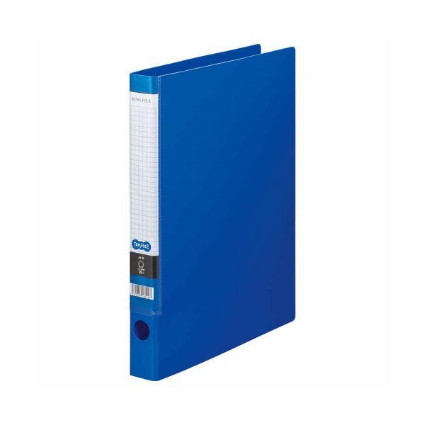 (まとめ) TANOSEE Oリングファイル A4タテ 2穴 170枚収容 背幅35mm ブルー 1セット(10冊) 【×5セット】 青