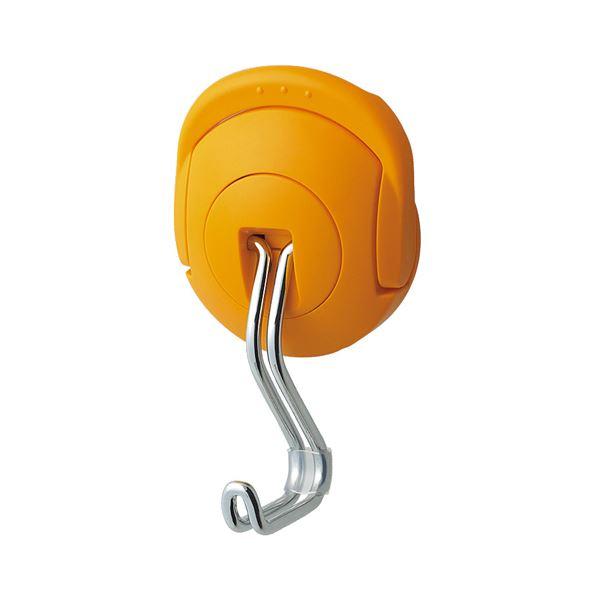 (まとめ) コクヨ 超強力マグネットフック(タフピタ) 優れた耐久性 耐荷重 約10kg オレンジ フク-227YR 1個 【×10セット】