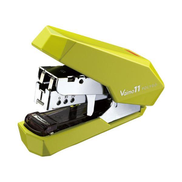 (まとめ)マックス バイモ11ポリゴ HD-11SFLK/LG ライトグリーン【×30セット】 緑