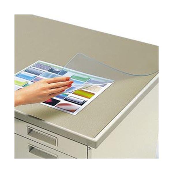 (まとめ)コクヨ デスク (テーブル 机) マット軟質(オレフィン・透明)シングル 600×450mm マ-900N 1枚【×5セット】