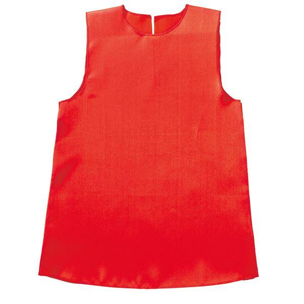(まとめ)ソフトサテンワンピース Cサイズ(約60cm) 赤 【×10個セット】