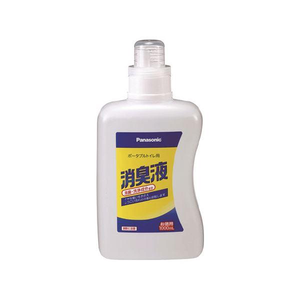 (まとめ)ポータブルトイレ用消臭液 1L 無色【×5セット】
