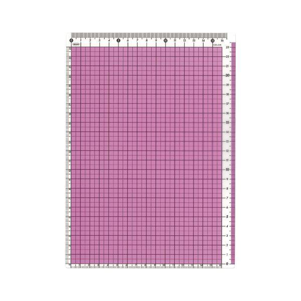 (まとめ) 共栄プラスチック カラー方眼下敷 B5判 ピンク【×50セット】