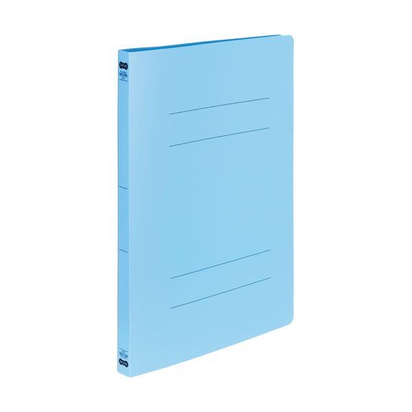 (まとめ) TANOSEE書類が出し入れしやすい丈夫なフラットファイル「ラクタフ」 A4タテ 150枚収容 背幅20mm ブルー1パック(5冊) 【×10セット】 青