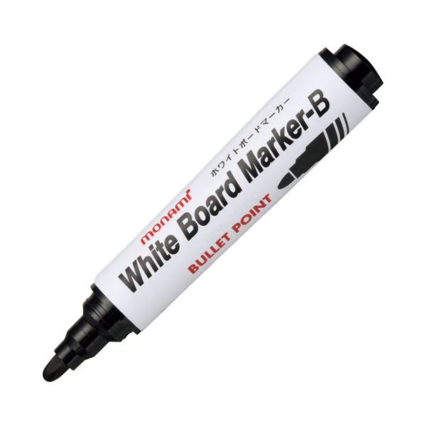 (まとめ) モナミ ホワイトボードマーカーB 丸芯 黒 10501 1本 【×100セット】 白