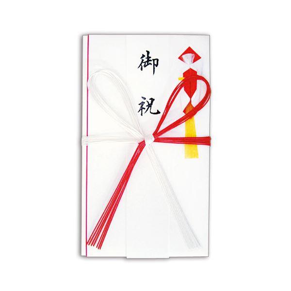 (まとめ) 赤白7本 花結 金封 高級和紙 短冊付 No.2653 1枚 【×100セット】