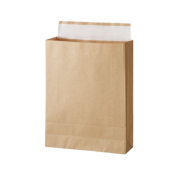 (まとめ)スーパーバッグ 宅配袋 未晒 大 100枚入【×5セット】