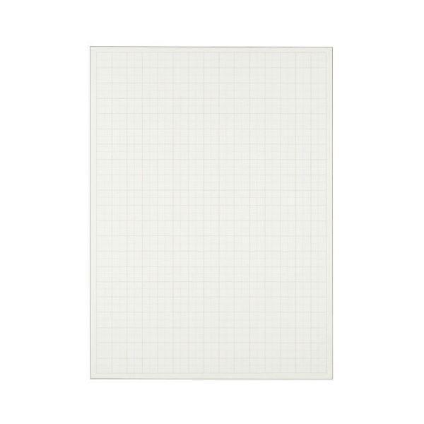 (まとめ) TANOSEE 模造紙(プルタイプ) 詰替用 788×1085mm 50mm方眼 再生ホワイト 1セット(60枚:20枚×3本) 【×5セット】 白