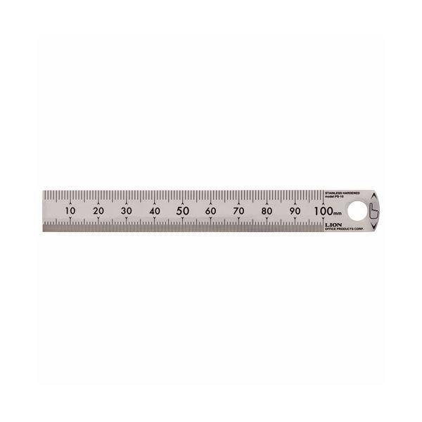ライオン事務器 ステンレス定規 10cmPS-10 1セット(50本)