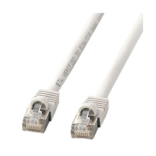 (まとめ) STPエンハンスドカテゴリ5 単線ケーブル 配線 ライトグレー 10m KB-STP-10LN 1本 【×5セット】