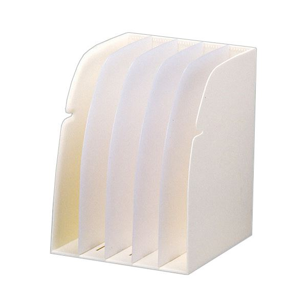 (まとめ) リヒトラブ REQUEST ブックスタンド 5ブロック 白 G1650-0 1個 【×5セット】