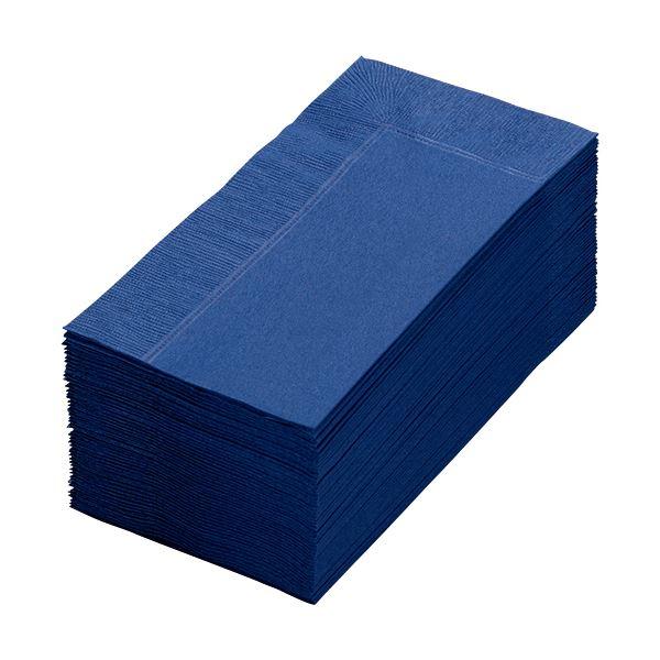 (まとめ) カラーナプキン 2PLY 8つ折 ネイビーブルー 2PLU-28C-N 1パック(50枚) 【×30セット】 青