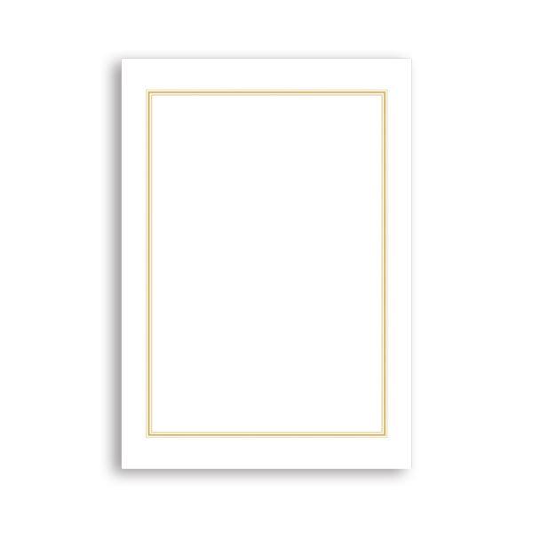 (まとめ) タカ印 OA辞令用紙 三重枠 B5 9-1400 1冊(20枚) 【×30セット】