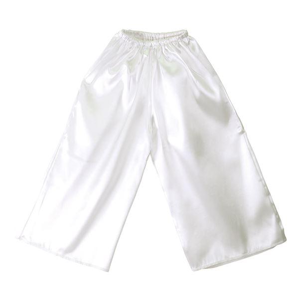 (まとめ)ソフトサテンズボン Cサイズ 白 【×10個セット】