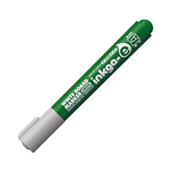 (まとめ)コクヨ ホワイトボードマーカーインクガイイ スタンダードタイプ 細字 緑 PM-BN101G 1セット(10本)【×20セット】 白