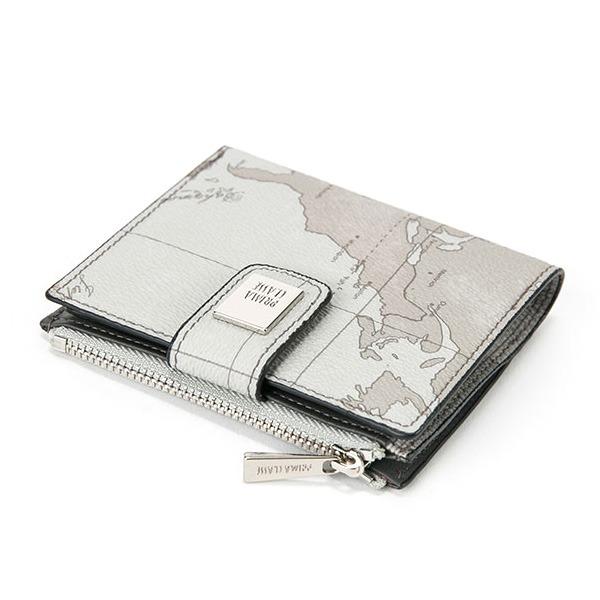 マップ柄で人気のPRIMA CLASSE プリマクラッセ PRIMA PSW8-2133 おトク 整理 ミントグレイ 正規認証品!新規格 出来る二つ折り財布 収納