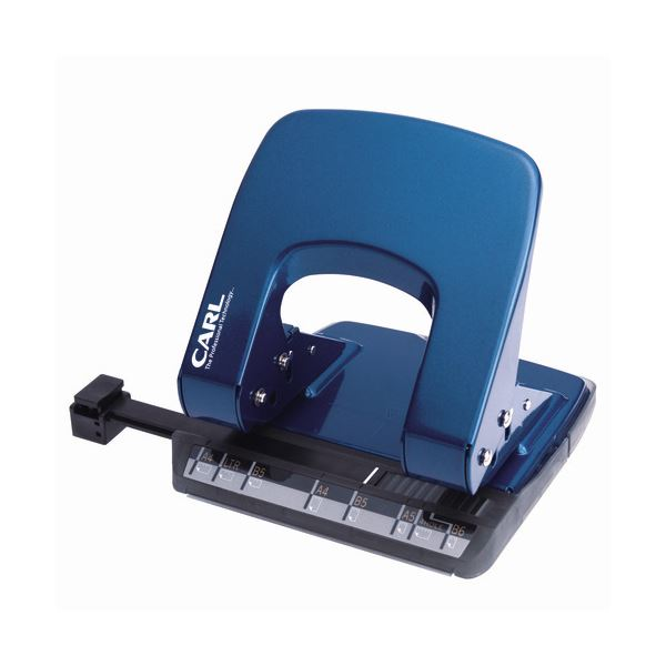 (まとめ) カール事務器 2穴パンチ ALISYS35枚穿孔 ブルー LP-35-B 1台 【×10セット】 青