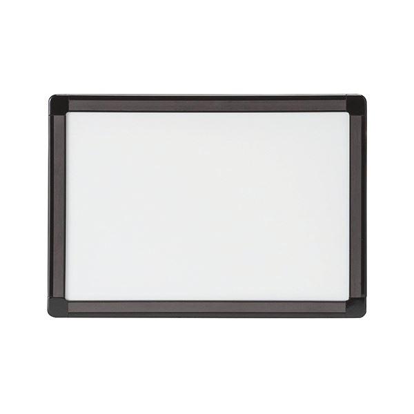 (まとめ) TANOSEEマグネット付両面ホワイトボード A4 W303×H213mm 1枚 【×10セット】 白