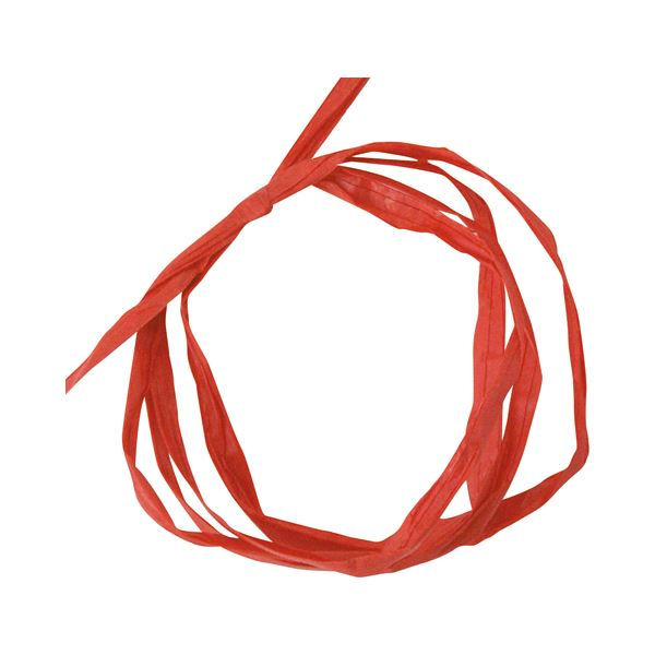 (まとめ) ヘッズ ペーパーラフィア 5mm×50m赤 PR-RE 1巻 【×30セット】