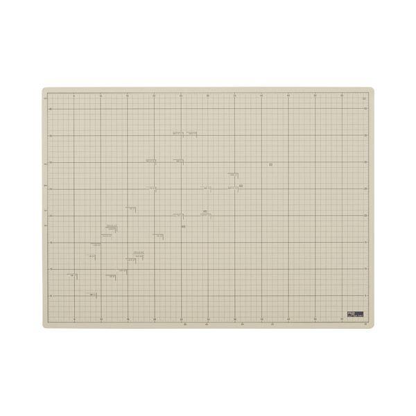(まとめ) TANOSEE 滑りにくいカッターマット A2 450×620mm 1枚 【×5セット】