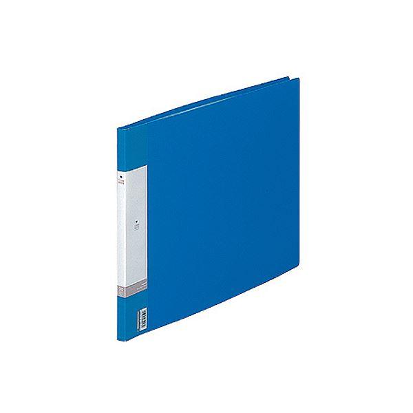 (まとめ) リヒトラブ リクエスト クリヤーブック(クリアブック) A3ヨコ 20ポケット 背幅16mm 青 G3223-8 1冊 【×10セット】