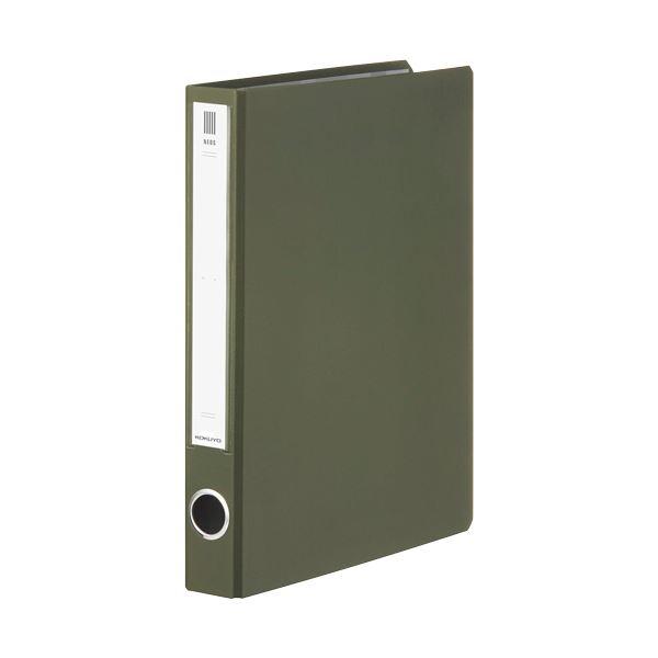 (まとめ) コクヨ チューブファイル(NEOS)A4タテ 300枚収容 30mmとじ 背幅45mm オリーブグリーン フ-NE630DG 1冊 【×30セット】 緑