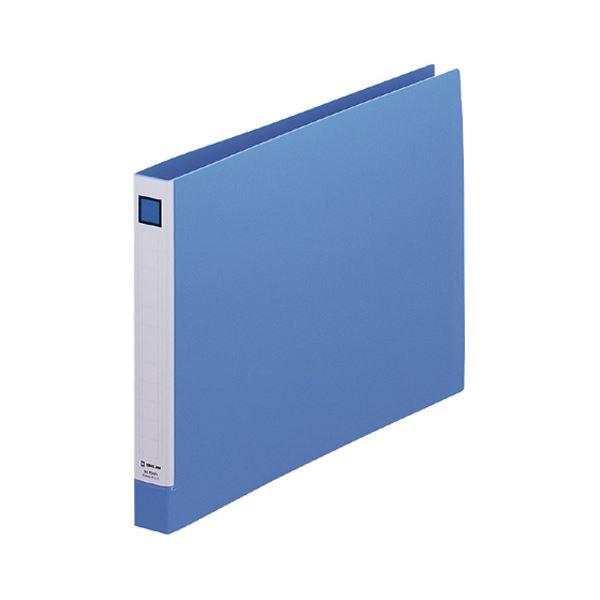 (まとめ)キングジム リングファイル(脱・着)NA4ヨコ 2穴 150枚収容 背幅27mm 青 638N 1冊 【×20セット】