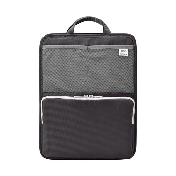 (まとめ) リヒトラブ SMART FITbright label スタンドポケット (タテ型) A4 ブラック A-7668-24 1個 【×5セット】 黒