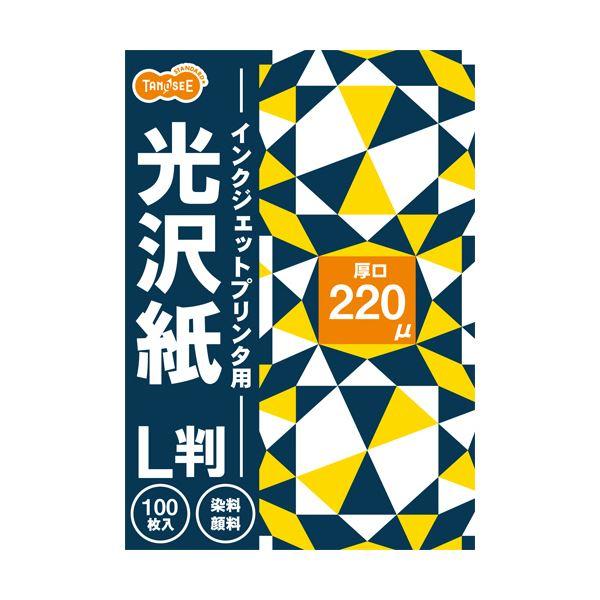 (まとめ) TANOSEE インクジェットプリンタ用光沢紙 L判 1冊(100枚) 【×30セット】
