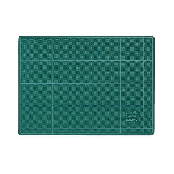 コクヨ カッティングマット(両面仕様)220×300×3mm グリーン マ-40N 1セット(10枚) 緑