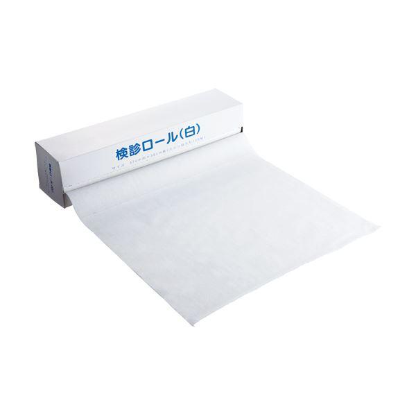 (まとめ)カネモ商事 検診ロール370mm×36m ミシン目あり 白 KR-001 1本(120シート)【×10セット】