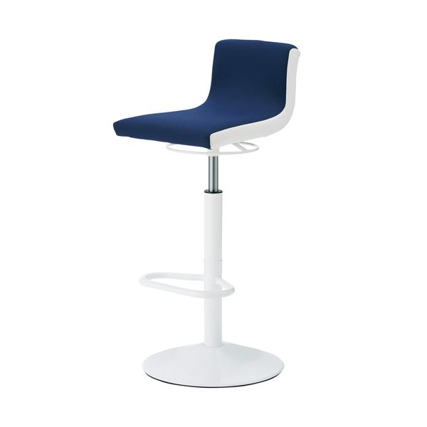 CMC ハイスツール イス バーチェア 椅子 カウンターチェア HC-4F ネイビー 布張り