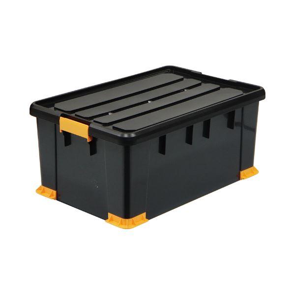 (まとめ) サンカ 高い耐久性 頑丈 箱(工具箱) ブラック 66×30cm TCP-66-30 1個 【×5セット】 黒