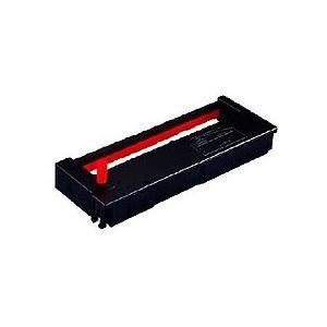(まとめ) セイコープレシジョン タイムレコーダ用インクリボン 黒・赤 QR-12055D 1個 【×10セット】