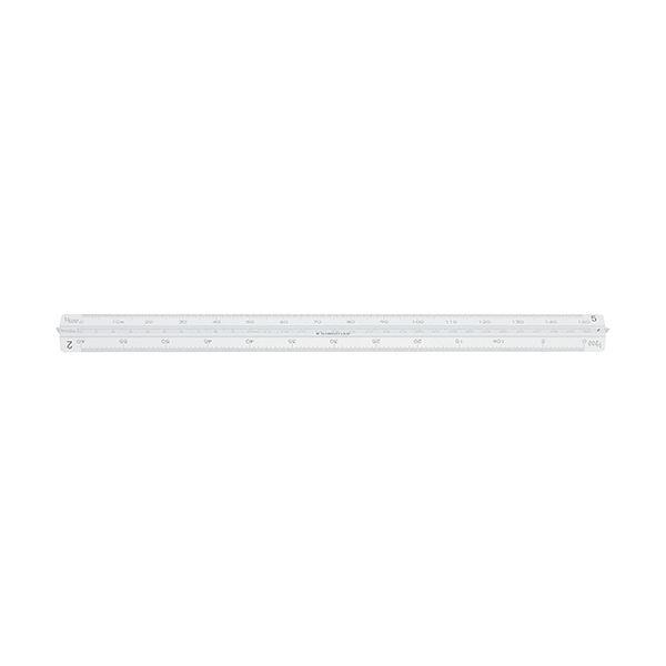 (まとめ)ステッドラー フルアルミ三角スケール副尺付き 一般用 30cm 987 30-11 1個【×3セット】