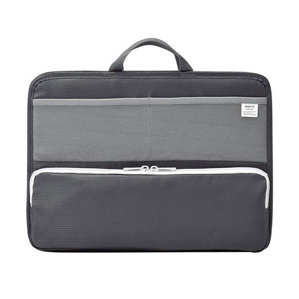 (まとめ) リヒトラブ SMART FITbright label スタンドポケット (ヨコ型) A4 ブラック A-7664-24 1個 【×5セット】 黒