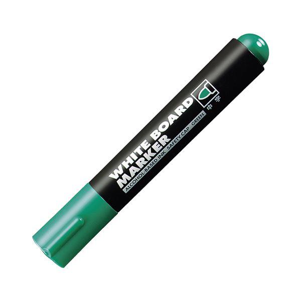 (まとめ) コクヨ ホワイトボード用マーカーペン 中字 緑 業務用パック PM-B102NG 1箱(10本) 【×10セット】 白