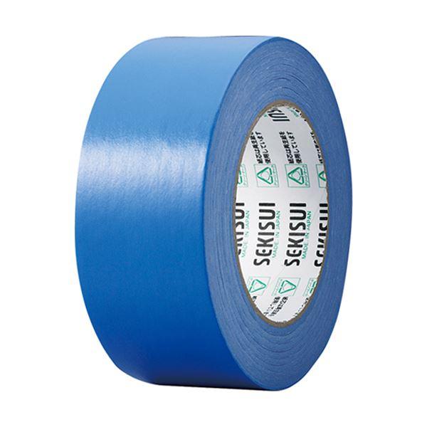 (まとめ) 積水化学 カラークラフトテープ#500WC 50mm×50m 青 K50WA13 1巻 【×30セット】