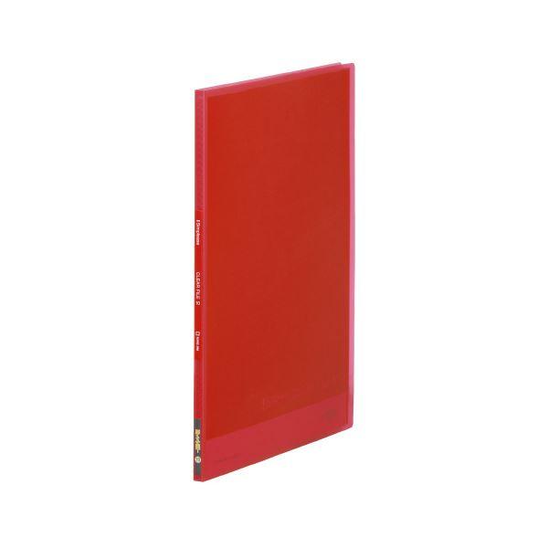 (まとめ)キングジム シンプリーズクリアファイル 186TSPH 赤【×200セット】