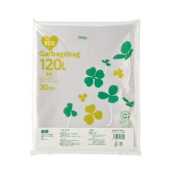 生活用品 インテリア 雑貨 日用雑貨 ビニール袋 TANOSEE ポリエチレン収集袋 透明 120L 30枚入 【×10セット】